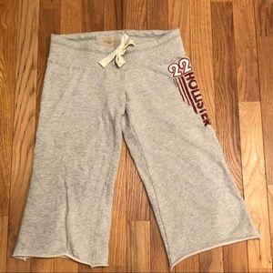 Hollister gray Bermuda stretch shorts.